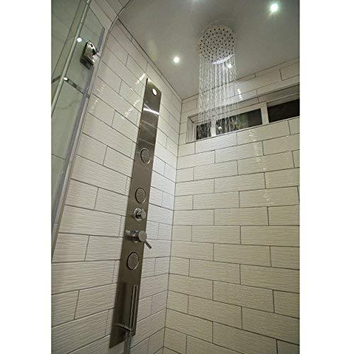 "BOANN BNSPS919 Stainless Steel Rainfall Shower Head In-Wall Shower Panel, 8"""