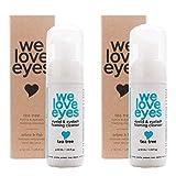 We Love Eyes- Vegan Tea Tree Eyelid Eyelash Foaming Cleanser Combo/double