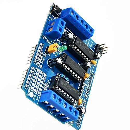 Price comparison product image Qunqi L293D Motor Drive Shield For Arduino Duemilanove Mega UNO R3 AVR ATMEL