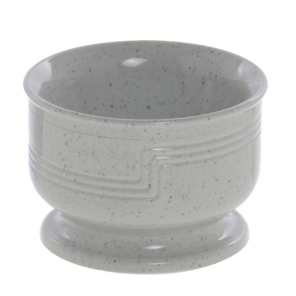 Cambro Shoreline Collection 5 Oz Speckled Grey Plastic Insulated Bowl - 3 1/2 Dia x 2 3/8 H