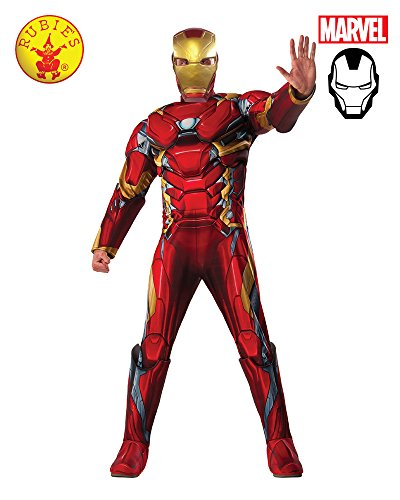 Marvel Men's Captain America: Civil War Deluxe Muscle Chest Iron Man Costume, Multi, X-Large -
