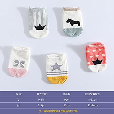5 pairs of baby girls and boys summer cartoon cotton baby Crystal ultra-thin transparent stockings children socks relent