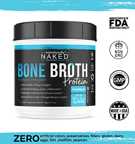 Pure-Bone-Broth-Protein-Powder-Zero-Net-Carbs-Supports-Paleo-Keto-Diets-Collagen-Types-1-2-3--Grass-Fed-Pasture-Raised-Cows-Dairy-Free-Non-GMO-20gs-Protein-Unflavored-50-Servings