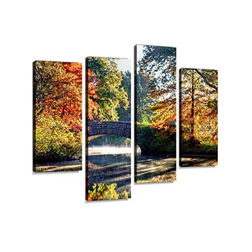Autumn in Boston's Dorchester Neighborhood Canvas Wall Art Hanging Paintings Modern Artwork Abstract Picture Prints Home Decoration Gift Unique Designed Framed 4 - Hanging Dorchester