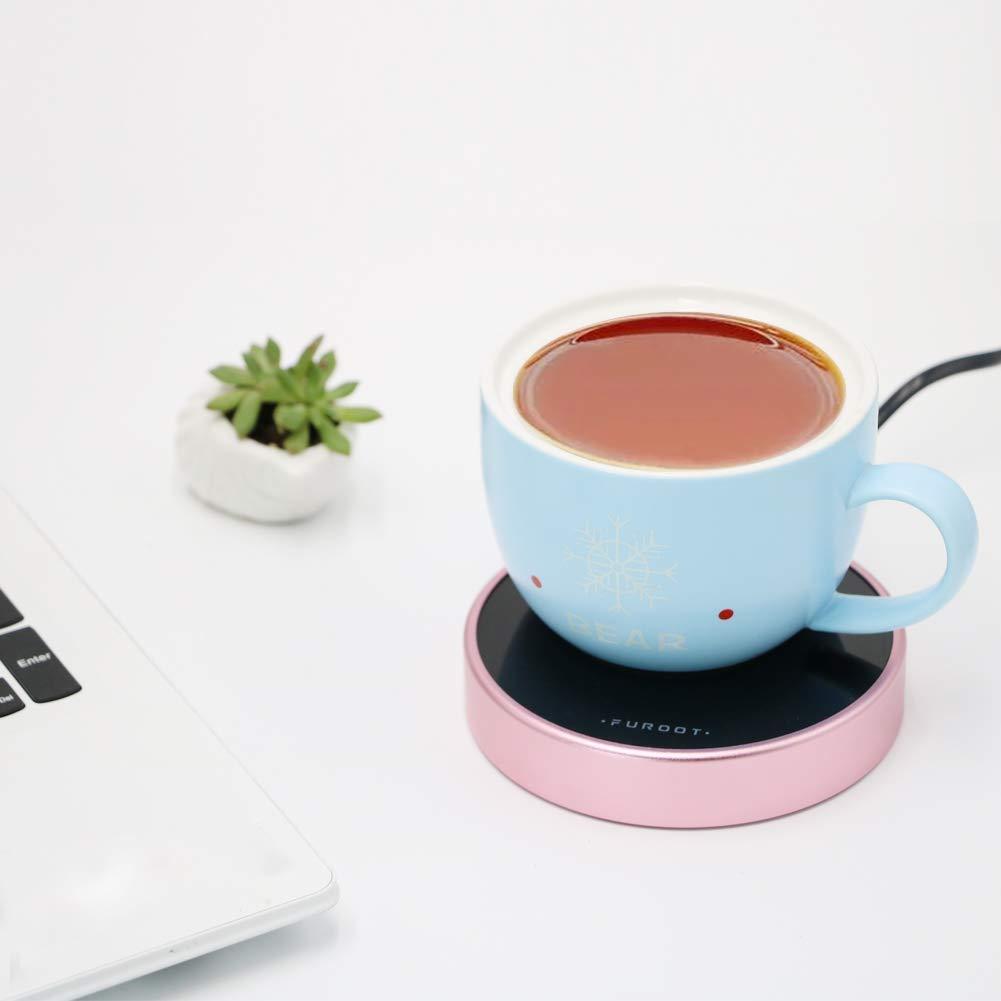 Asmwo 4.5inch coffee tea mug warmer for Milk Tea Coffee Cocoa Beverage two Adjustable Temperature Teapot Warmer Best Gift mugs warmer for women men grandma by Asmwo (Image #7)
