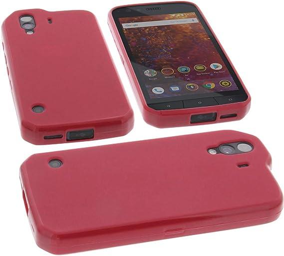 foto-kontor Funda para Cat S61 Protectora de Goma TPU para móvil ...