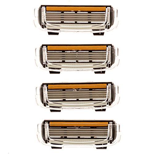 Premium 4-Blade (4 count) Replacement Cartridges for Cobra Razors, Lequa Mermaid Razor and Headblade ()