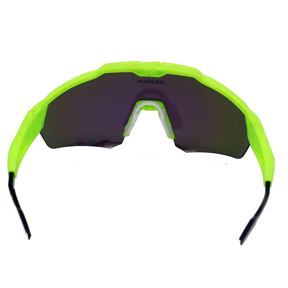 584e617ec3 GIEADUN Sports Sunglasses Protection Cycling Glasses with 4 Interchangeable Lenses  Polarized UV400 ...