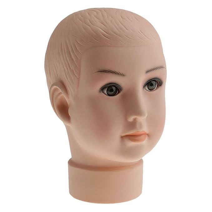Sharplace Enfant Tête de Mannequin Porte Perruques Cheveux Chapeau Moule  Présentoir de Vitrine en PVC  Amazon.fr  Beauté et Parfum 3f3ea2edfcb3