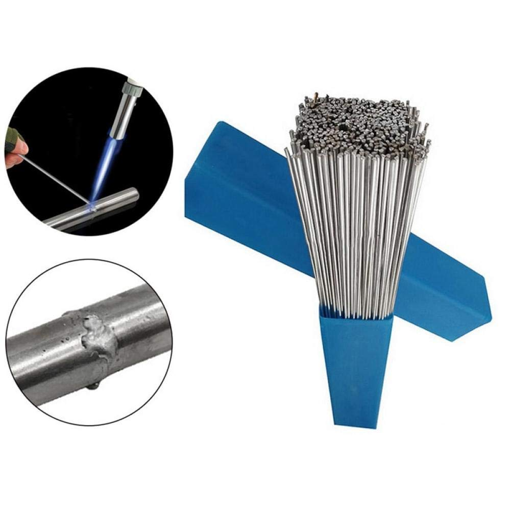 Ouken 1.6 50pcs / 2 mm * 500mm en Aluminium Soudage électrode Flux Core Basse température Fil de Soudure Aluminium électrode (Pas de Flux) Multi-Outils