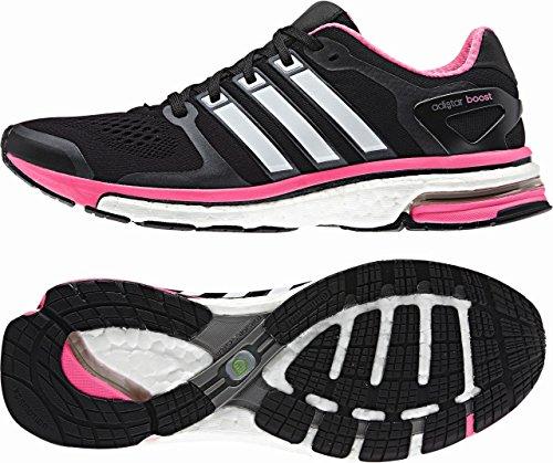 adidas Adistar Boost ESM W Damen Laufschuh Noir, gris et rose
