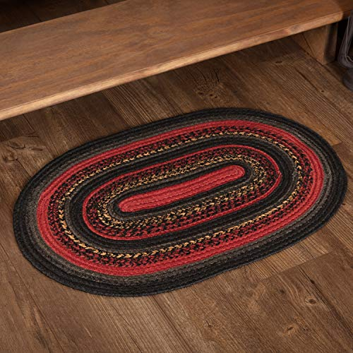 VHC Brands 51831 Rustic Flooring Cumberland Jute Oval 20x30 Rug, Chili Pepper Red ()