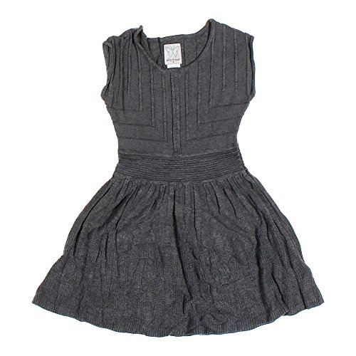 Ella Moss Girls Sweater Sleeveless Dress (Charcoal Grey Heather, 14) by Ella Moss