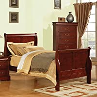 ACME Furniture Louis Philippe 23760T Twin Bed, Cherry