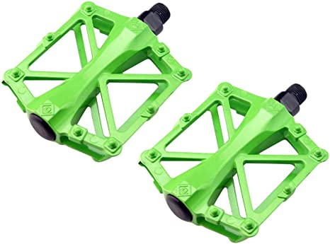 LIOOBO Pedal de Bicicleta de montaña Verde Pedales de Plataforma de Bicicleta de Aluminio Pedales de Bicicleta de Ciclismo para Bicicleta Bicicleta 1 par: Amazon.es: Deportes y aire libre