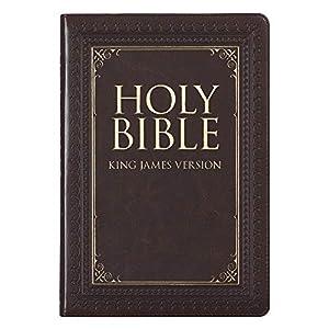 Holy Bible: KJV Thinline Large Print Thumb Index Edition: Brown (King James Version Bible)