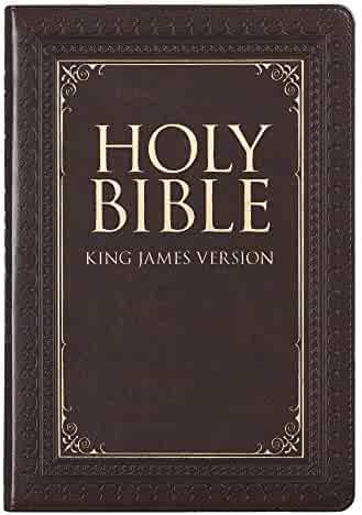 Holy Bible: KJV Thinline Large Print Thumb Index Edition: Brown (King James Version Bible)