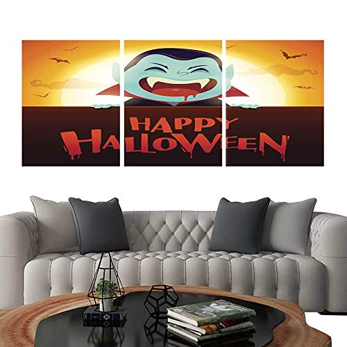 UHOO Prints Wall Art PaintingsHappy Halloween Little Witch with Big Signboard in The Moonlight Customizable Wall Stickers 20
