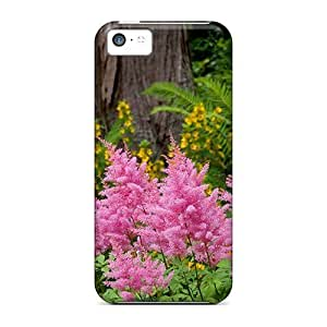 Top Quality Rugged Astilbe Garden Case Cover For Iphone 5c