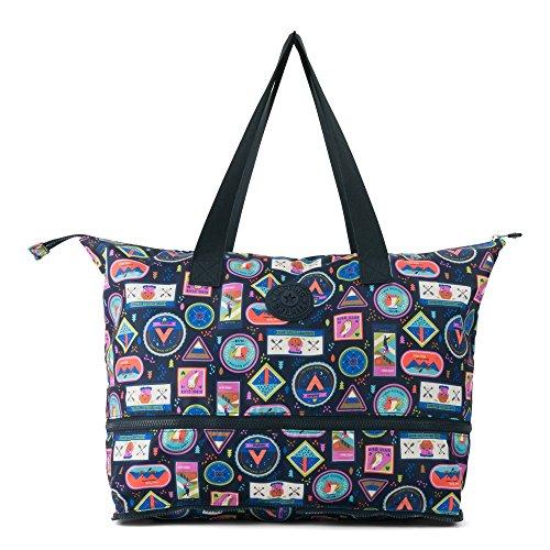 Kipling Women s Imagine Foldable Tote, Essential Travel Bag, Wandering Roads