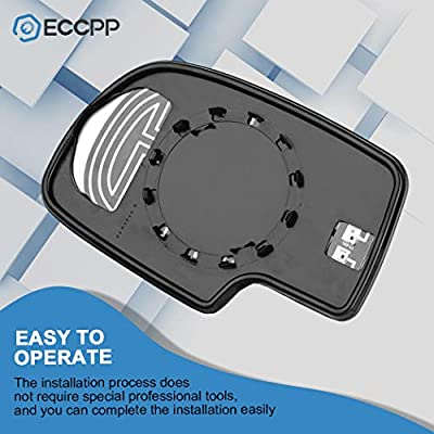 ECCPP Mirror Glass Power Heated Passenger Side(RH) Replacement fit for Chevy Avalanche Suburban Silverado Tahoe GMC Sierra Hybrid Classic Yukon: Automotive