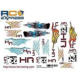Hot Racing HRF100M Decal Hot Racing Skull & Flames Med