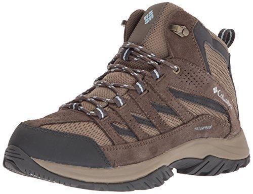 Columbia Women's Crestwood Mid Waterproof Hiking Boot, Pebble, Oxygen, 5.5 Regular US by Columbia