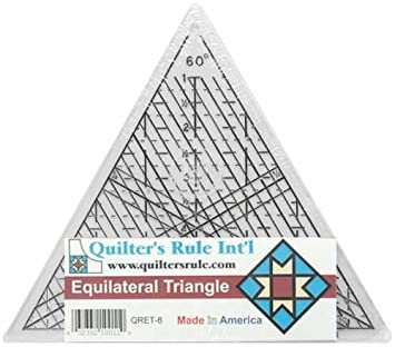 Amazon.com: Quilter's Equilateral Triangle Ruler 6 Inches, 60 Degrees