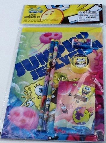 spongebob-squarepants-6-piece-sketchbook-set