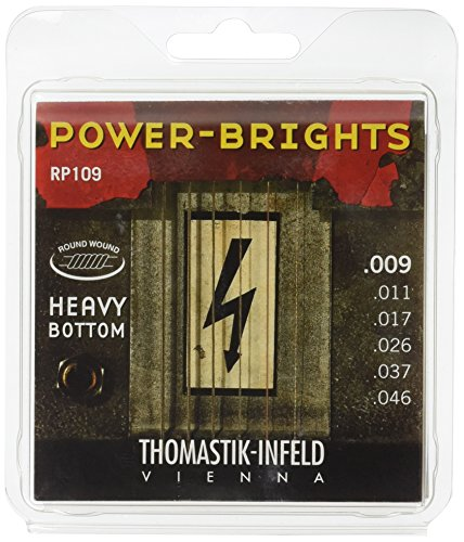 09 Electric Guitar Strings: Power-Brights 6 String Heavy Bottom Set E, B, G, D, A, E ()