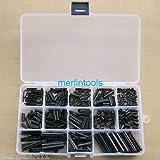 360Pcs Steel Split Spring Dowel Tension Roll Pin Metal Hardware Assortment Kit
