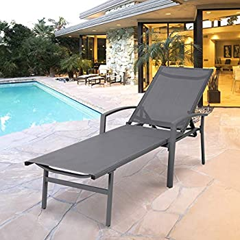 Amazon Com Chaise Lounge Chair Aluminum With 5 Position