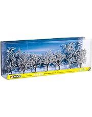 Noch 25075 8-10 cm höga vinterträd landskap modellering (7-delar)