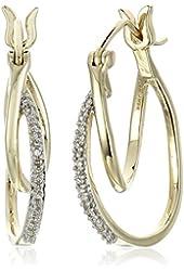 10K Yellow Gold Diamond Accent Earrings