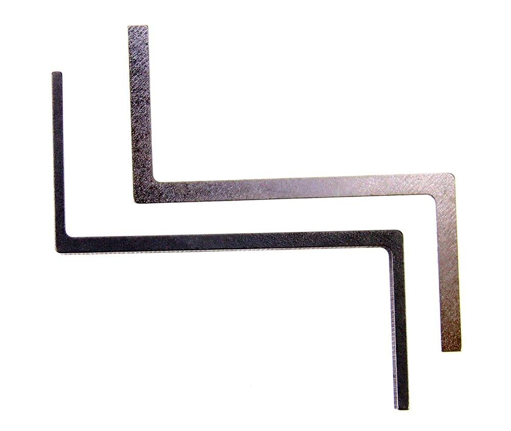 juego de ganz/úas de pr/áctica /útil con 3 piezas de cerradura de entrenamiento transparente DBH 8 piezas Kaba herramienta de ganz/úas para cerradura de doble extremo abierto