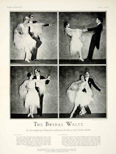 1927 Print Bridal Waltz Edwina St Clare Charles Sabin Costume Dress Suit Couple - Original Halftone (Waltz Costume)