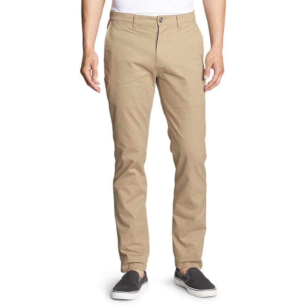 Eddie Bauer Men's Legend Wash Flex Chino Pants - Slim, Lt Khaki Tall 36/36