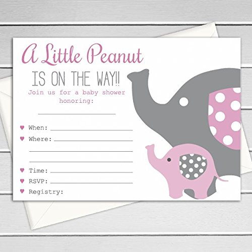 Amazon baby girl elephant themed shower invitations fill in baby girl elephant themed shower invitations fill in the blank invitations 12 pack filmwisefo