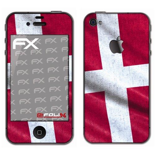 atFoliX - Pellicola protettiva design Calcio 2012 con bandiera della Danimarca, per Apple iPhone 4 / 4s