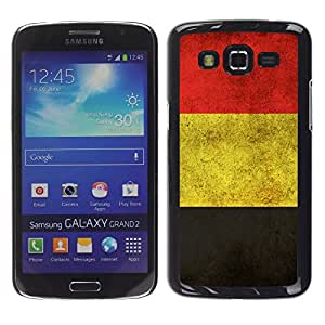Samsung Galaxy Grand 2 II / SM-G7102 / SM-G7105, Radio-Star - Cáscara Funda Case Caso De Plástico (Germany German Grunge Flag)