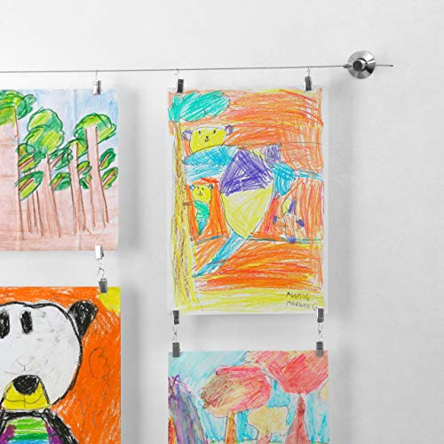Top kids artwork display hanging wire