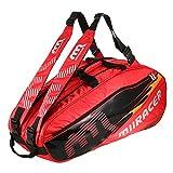 Lixada 6 Racquet Bag Badminton Tennis Racket Bag Backpack Racket Storage Bag Holder