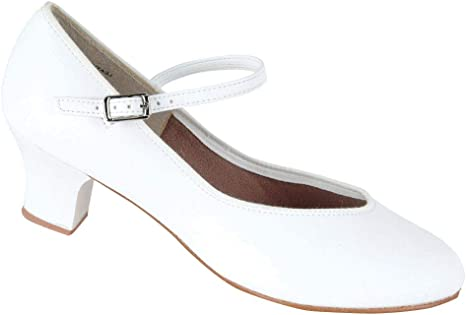 White Character Tap Queen Dance Shoes