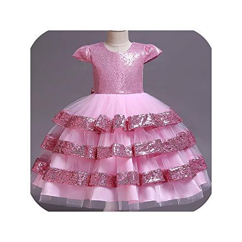 Dresses Wedding Party Princess Dresses Baby Girls First Communion Layered Tutu Dresses,Pink2,7]()