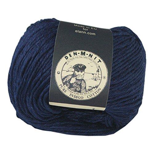 Blue Dyed Knitting Yarn - elann Den-M-Nit Yarn | 10 Ball Bag | Dark Indigo