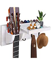 $20 » CABINAHOME Guitar Wall Holder stands hangers for Acoustic and Electric Guitar wood Hanging Rack with Pick Holder and 3 Hook