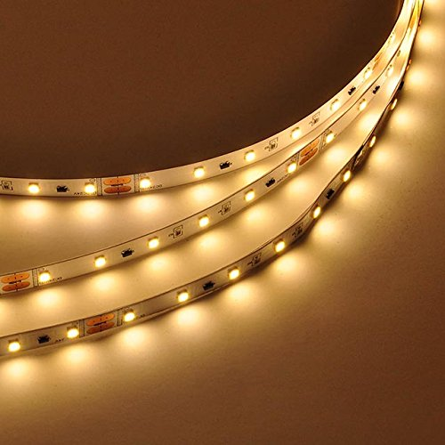 LEDwholesalers 24-Volt UL 65-Feet (20m) Flexible LED Light Strip with 1200xSMD2835, Warm White, 20216WW
