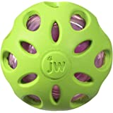 JW Pet Crackle Heads Rubber Ball Medium, Asst Green, Blue, Purple