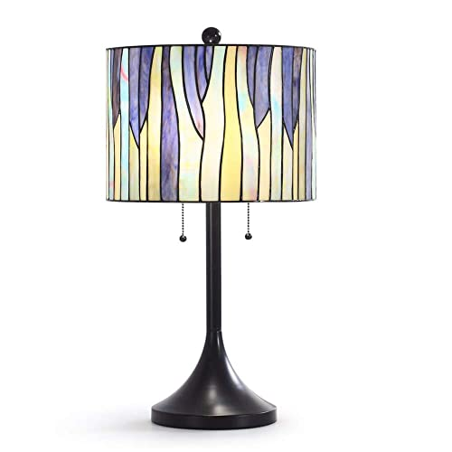 25 H Modern Tiffany Table Lamp, Tiffany Lamp, Table Lamp -Purple