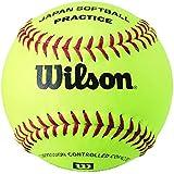 Wilson(ウイルソン) 革ソフトボール練習球 WTA9611J イエロー